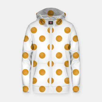 Thumbnail image of Mustard Dots White Lines Zip up hoodie, Live Heroes