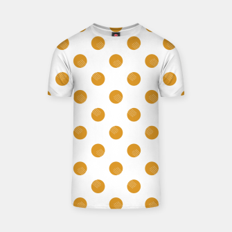 Thumbnail image of Mustard Dots White Lines T-shirt, Live Heroes