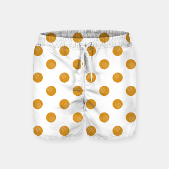 Thumbnail image of Mustard Dots White Lines Swim Shorts, Live Heroes