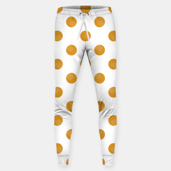 Thumbnail image of Mustard Dots White Lines Sweatpants, Live Heroes