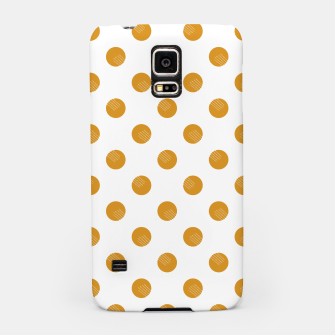 Thumbnail image of Mustard Dots White Lines Samsung Case, Live Heroes