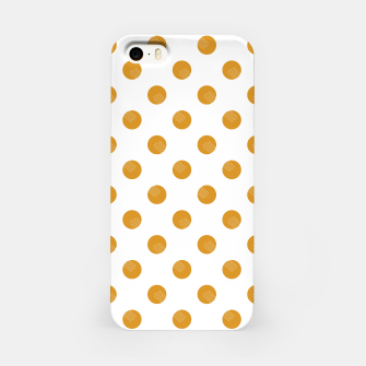Thumbnail image of Mustard Dots White Lines iPhone Case, Live Heroes
