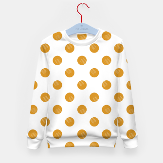 Thumbnail image of Mustard Dots White Lines Kid's sweater, Live Heroes