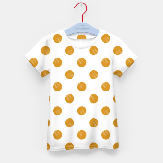 Thumbnail image of Mustard Dots White Lines Kid's t-shirt, Live Heroes
