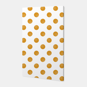 Thumbnail image of Mustard Dots White Lines Canvas, Live Heroes