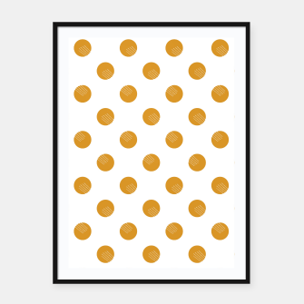 Thumbnail image of Mustard Dots White Lines Framed poster, Live Heroes