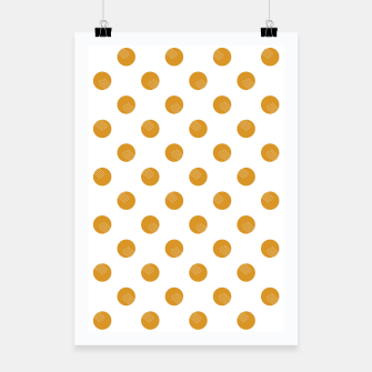 Thumbnail image of Mustard Dots White Lines Poster, Live Heroes