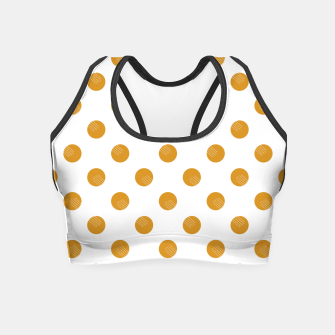 Thumbnail image of Mustard Dots White Lines Crop Top, Live Heroes