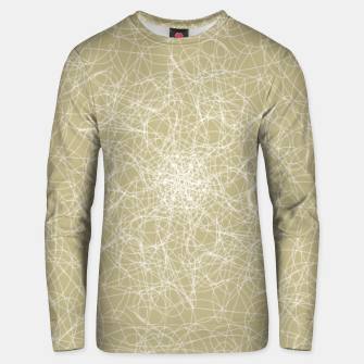 Thumbnail image of Art doodle lines, minimal and simple print on oat beige background Unisex sweater, Live Heroes