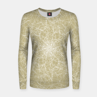 Thumbnail image of Art doodle lines, minimal and simple print on oat beige background Women sweater, Live Heroes