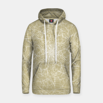 Thumbnail image of Art doodle lines, minimal and simple print on oat beige background Hoodie, Live Heroes