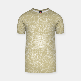 Thumbnail image of Art doodle lines, minimal and simple print on oat beige background T-shirt, Live Heroes