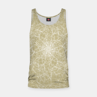 Miniatur Art doodle lines, minimal and simple print on oat beige background Tank Top, Live Heroes
