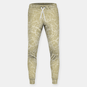 Thumbnail image of Art doodle lines, minimal and simple print on oat beige background Sweatpants, Live Heroes