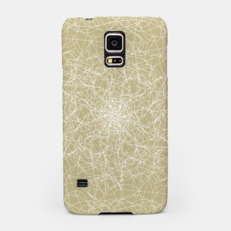Thumbnail image of Art doodle lines, minimal and simple print on oat beige background Samsung Case, Live Heroes
