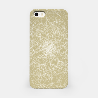 Miniatur Art doodle lines, minimal and simple print on oat beige background iPhone Case, Live Heroes