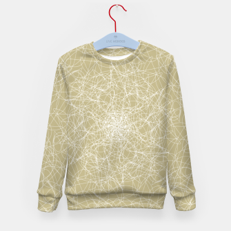 Miniatur Art doodle lines, minimal and simple print on oat beige background Kid's sweater, Live Heroes