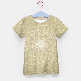 Miniatur Art doodle lines, minimal and simple print on oat beige background Kid's t-shirt, Live Heroes
