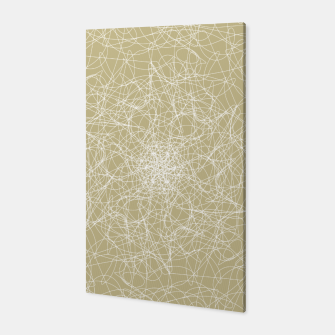 Thumbnail image of Art doodle lines, minimal and simple print on oat beige background Canvas, Live Heroes