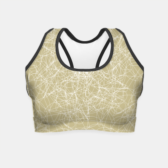 Miniatur Art doodle lines, minimal and simple print on oat beige background Crop Top, Live Heroes