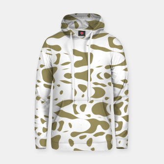 Thumbnail image of Beige and white, abstract liquid print, deformed drops flow design Hoodie, Live Heroes