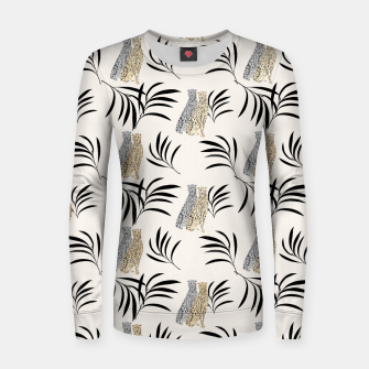 Thumbnail image of Cheetah Eucalyptus Glam Pattern #2 #tropical #decor #art Frauen sweatshirt, Live Heroes