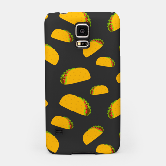 Thumbnail image of Cool and fun yummy taco pattern Samsung Case, Live Heroes