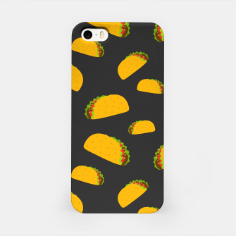 Thumbnail image of Cool and fun yummy taco pattern iPhone Case, Live Heroes