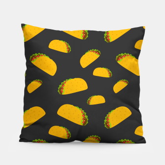 Thumbnail image of Cool and fun yummy taco pattern Pillow, Live Heroes