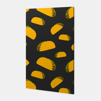 Thumbnail image of Cool and fun yummy taco pattern Canvas, Live Heroes