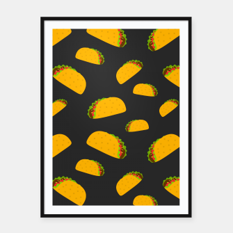 Thumbnail image of Cool and fun yummy taco pattern Framed poster, Live Heroes