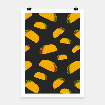 Thumbnail image of Cool and fun yummy taco pattern Poster, Live Heroes
