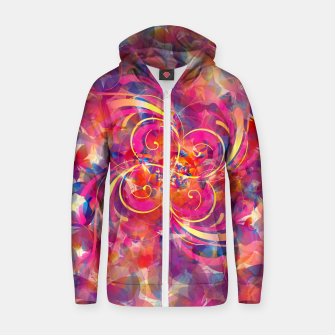 Thumbnail image of Butterfly Spiral Zip up hoodie, Live Heroes