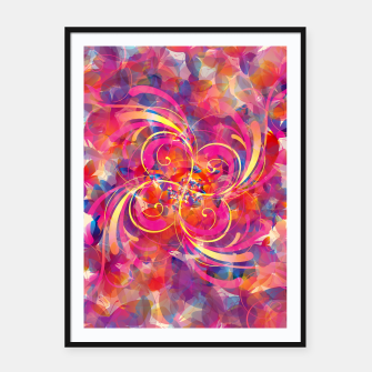 Thumbnail image of Butterfly Spiral Framed poster, Live Heroes