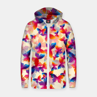 Thumbnail image of Butterflies Zip up hoodie, Live Heroes