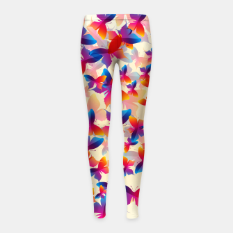 Thumbnail image of Butterflies Girl's leggings, Live Heroes