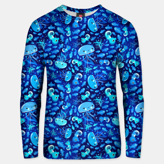Miniatur Illustration Under Water Creatures – Unisex sweatshirt, Live Heroes