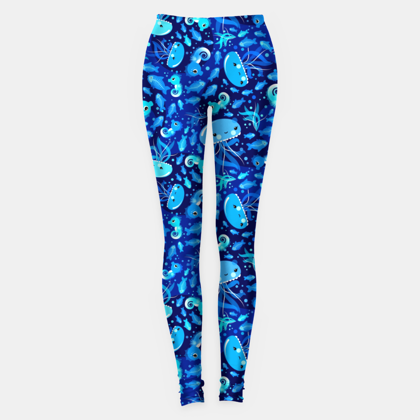 Image of Illustration Under Water Creatures – Leggings - Live Heroes