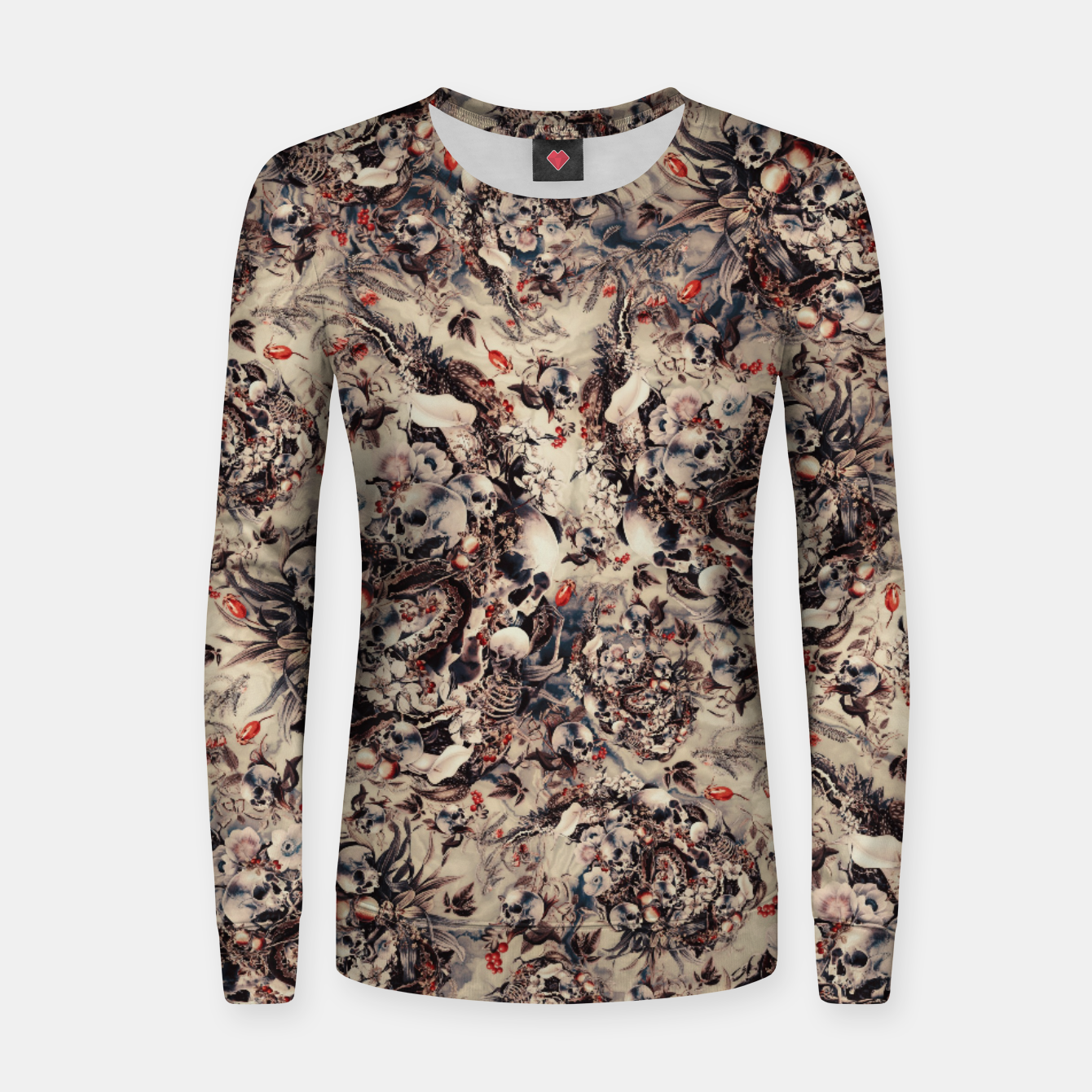 Image of Skulls and Snakes Women sweater - Live Heroes