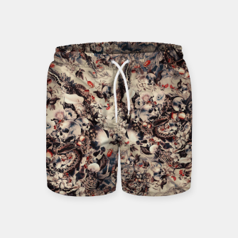 Miniatur Skulls and Snakes Swim Shorts, Live Heroes