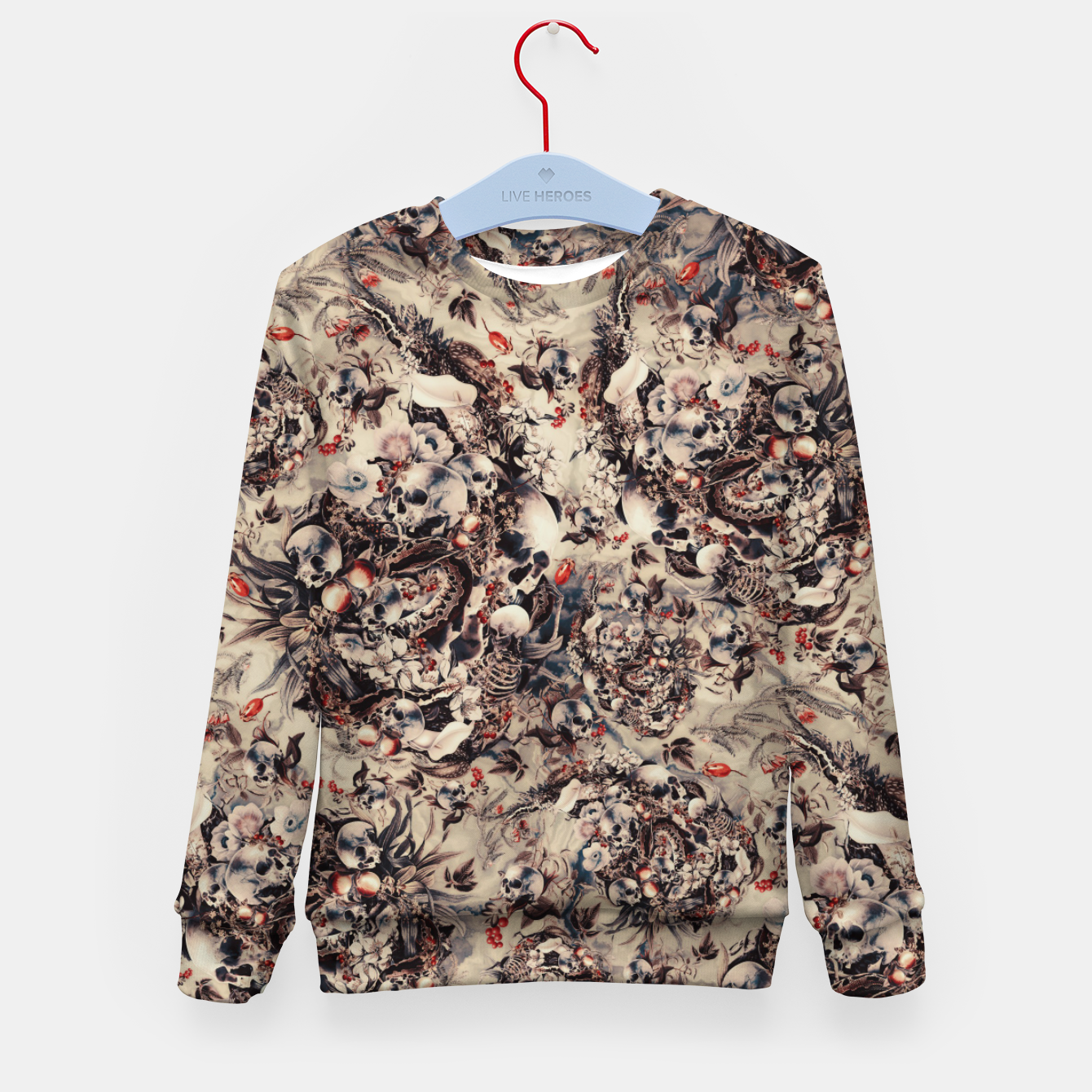 Image of Skulls and Snakes Kid's sweater - Live Heroes