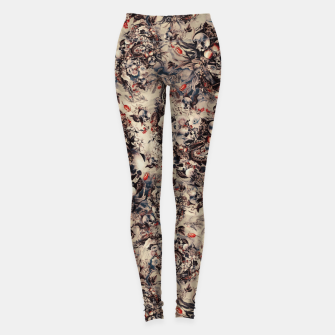 Skulls and Snakes Leggings Bild der Miniatur