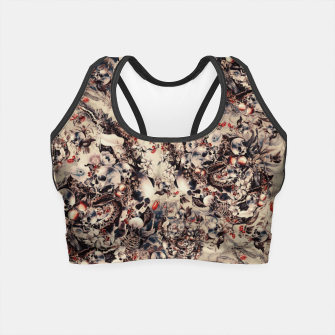 Miniatur Skulls and Snakes Crop Top, Live Heroes