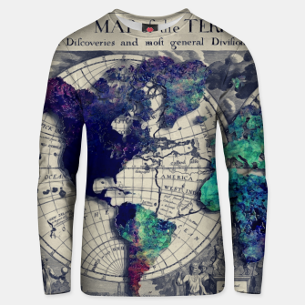 Thumbnail image of world map #map #worldmap Bluza unisex, Live Heroes