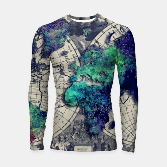 Miniature de image de world map #map #worldmap Rashguard długi rękaw, Live Heroes