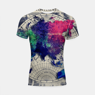 world map #map #worldmap Rashguard krótki rękaw thumbnail image