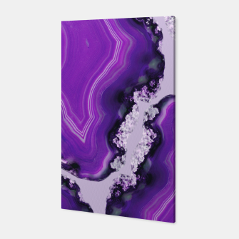Thumbnail image of Purple Agate Pattern #1 #gem #decor #art Canvas, Live Heroes
