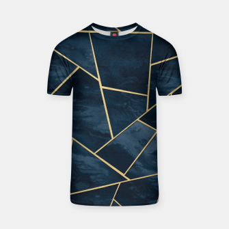 Thumbnail image of Dark Midnight Navy Blue Gold Geometric Glam #1 #geo #decor #art  T-Shirt, Live Heroes