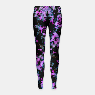 Thumbnail image of Abstract Intricate Texture Print Girl's leggings, Live Heroes