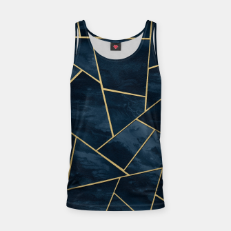 Thumbnail image of Dark Midnight Navy Blue Gold Geometric Glam #1 #geo #decor #art  Muskelshirt , Live Heroes